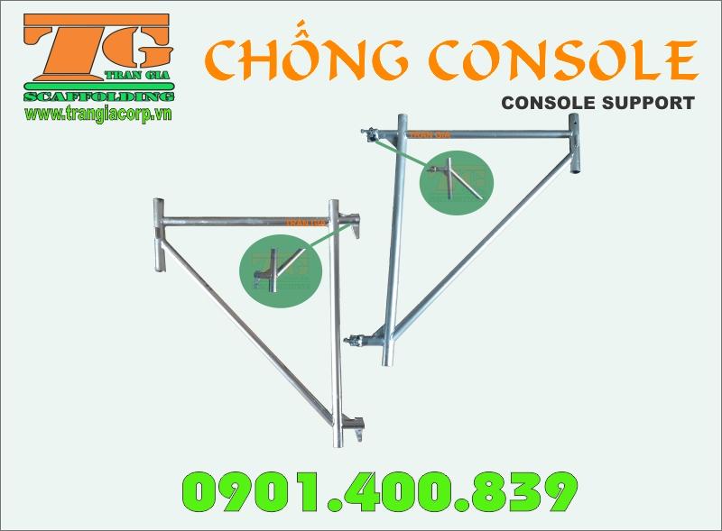 Chống Consol được mạ kẽm giúp sản phẩm nhìn đẹp và chuyên nghiệp cho công trình hơn